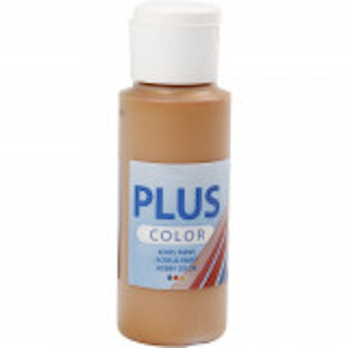 Plus Color hobbyfärg, raw sienna, 60ml