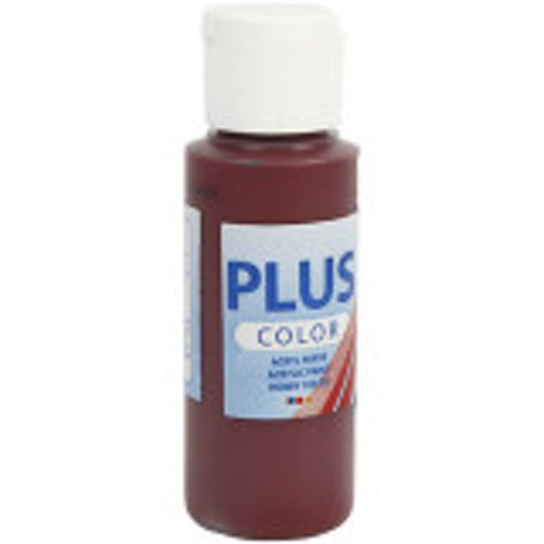 Plus Color hobbyfärg, bordeaux, 60ml