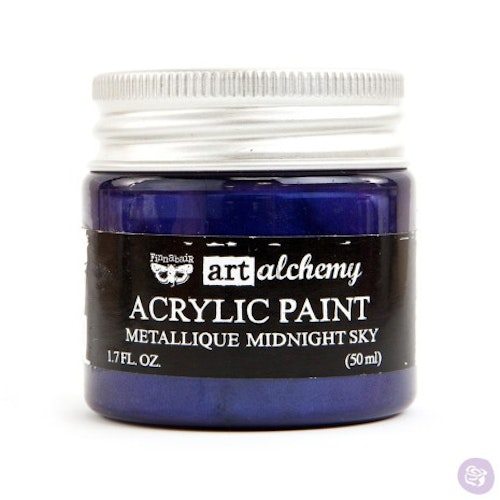 Prima Finnabair Art Alchemy Acrylic Paint 50ml - Metallique Midnight Sky