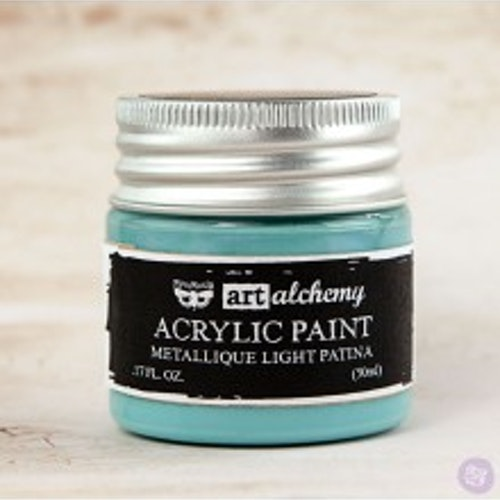 Prima Finnabair Art Alchemy Acrylic Paint 50ml - Metallique Light Patina