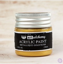 Prima Finnabair Art Alchemy Acrylic Paint 50ml - Metallique Gold Rush