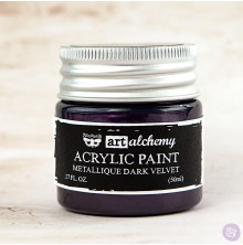Prima Finnabair Art Alchemy Acrylic Paint 50ml - Metallique Dark Velvet