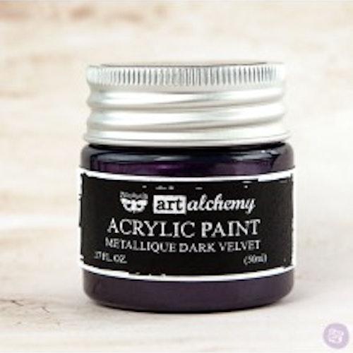 Prima Finnabair Art Alchemy Acrylic Paint 50ml - Metallique Dark Velvet