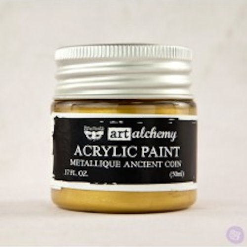 Prima Finnabair Art Alchemy Acrylic Paint 50ml - Metallique Ancient Coin