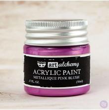 Prima Finnabair Art Alchemy Acrylic Paint 50ml - Metallique Pink Blush
