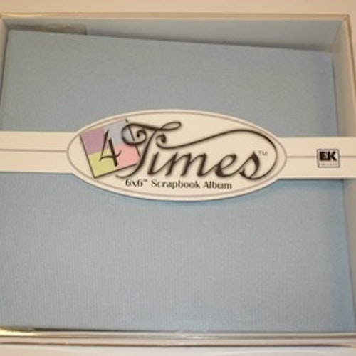 "Album EK 4times, 6""x6"", blue"