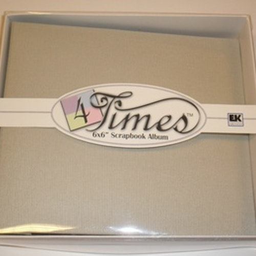 "Album EK 4times, 6""x6"", grey"