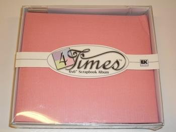 "Album EK 4times, 6""x6"", pink"
