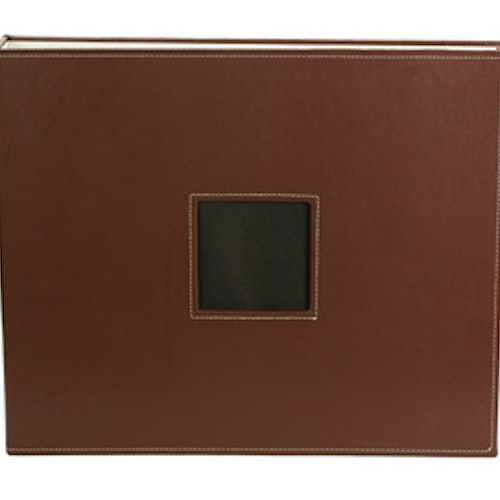 Album, 12x12, D-Ring - Leather, Chestnut