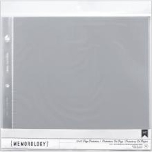 American Crafts Page Protectors Top Loading 12X12 10/Pkg