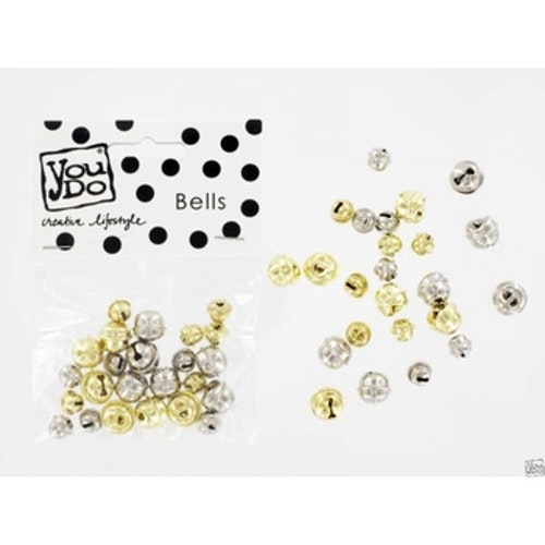 YouDo, Bells gold and silver mix 24pcs
