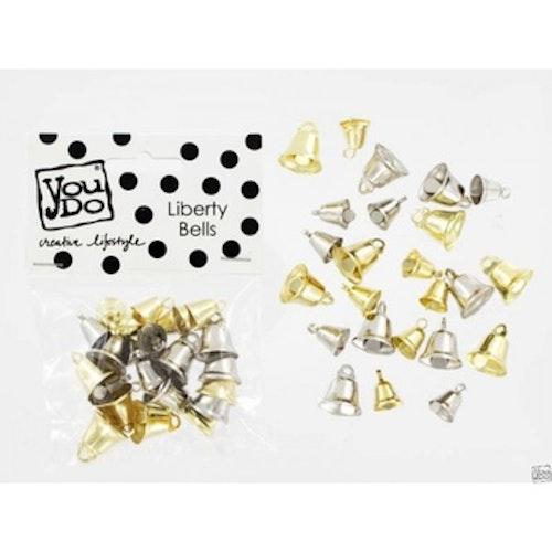 YouDo, Bells liberty gold silver mix 18pcs