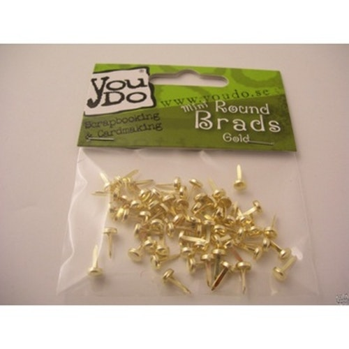 YouDo, Brads Round 5mm Gold 60pcs