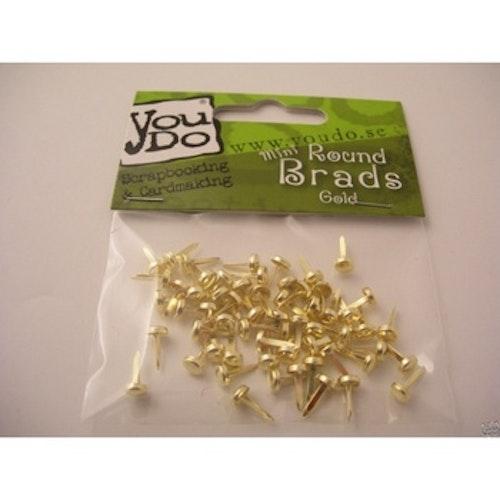 YouDo, Brads Round 5mm Gold 60pcs