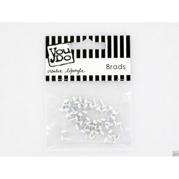 YouDo, Brads Round 5mm Pearly White 50pcs