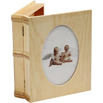 Träask med fönster stl. 21,7x18 cm, plywood