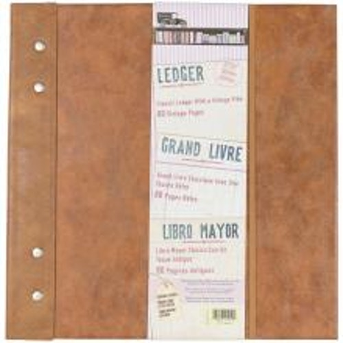 7 Gypsies Architextures Ledger Book 12X12 - Faux Leather