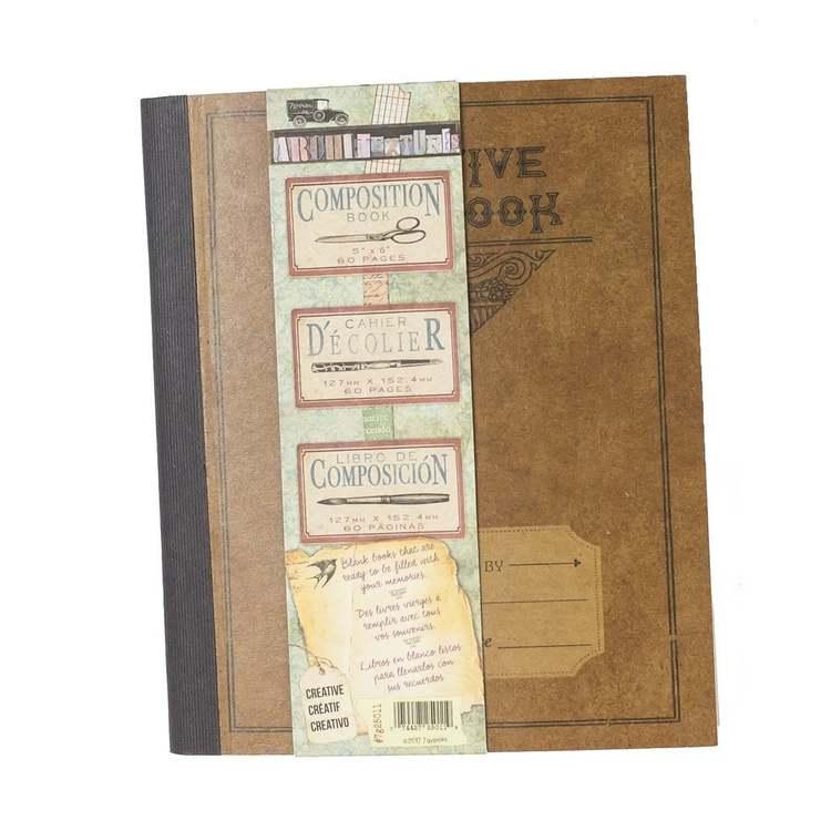 7 Gypsies Architextur Kraft Composition Book 5x6