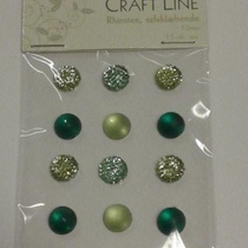 Rhinestione, Craft Line stora bling, grön