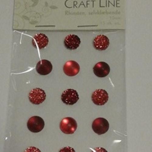 Rhinestione, Craft Line stora bling, röd