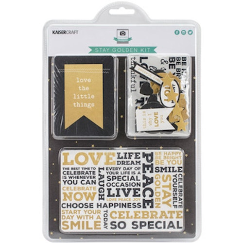 Kaisercraft Journal Cards - stay golden kit
