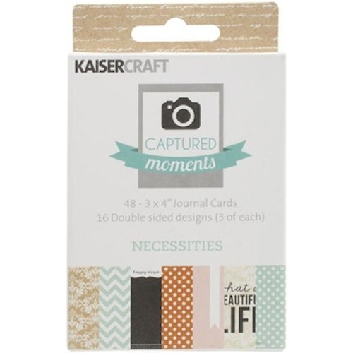 "Kaisercraft Journal Cards 3""x4"" - Necessities"