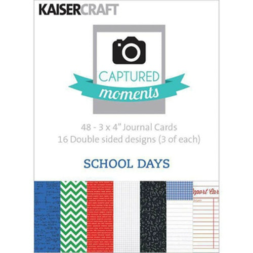 "Kaisercraft Journal Cards 3""x4"" - School Days"