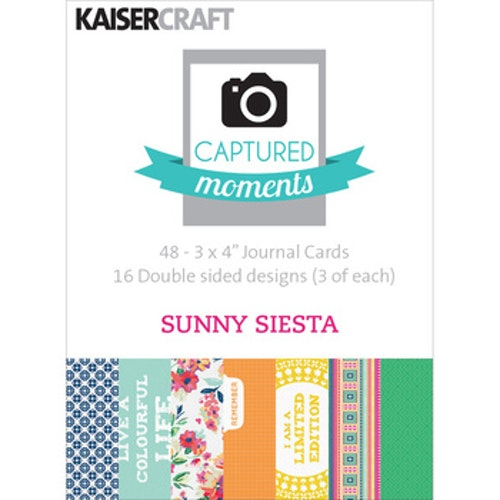 "Kaisercraft Journal Cards 3""x4"" - Sunny Siesta"
