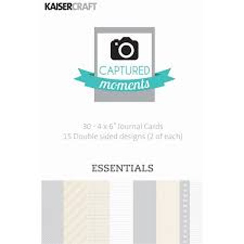 "Kaisercraft Journal Cards 4""x6"" - Essentials"