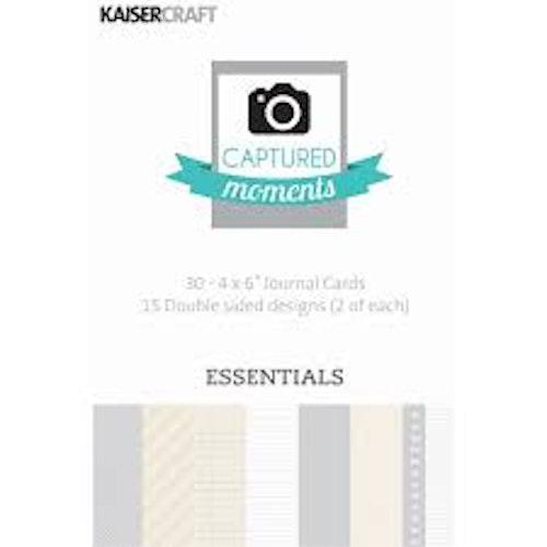 """Kaisercraft Journal Cards 4""""x6"""" - Essentials"""