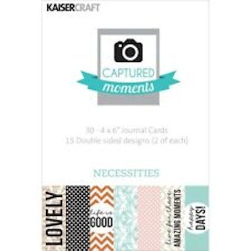 """Kaisercraft Journal Cards 4""""x6"""" - Necessities"""
