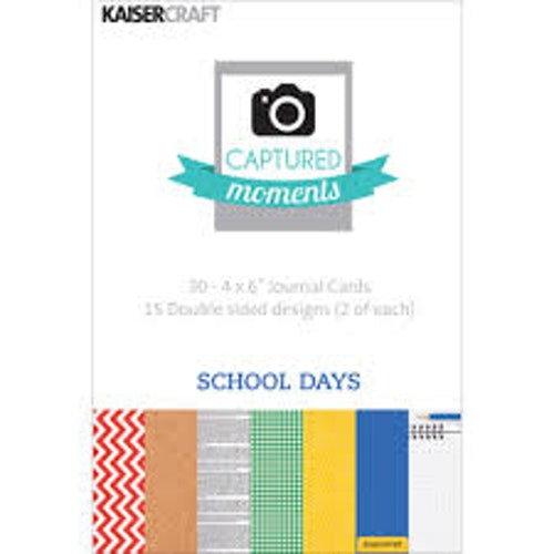 "Kaisercraft Journal Cards 4""x6"" - School Days"