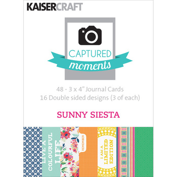 "Kaisercraft Journal Cards 4""x6"" - Sunny siesta"