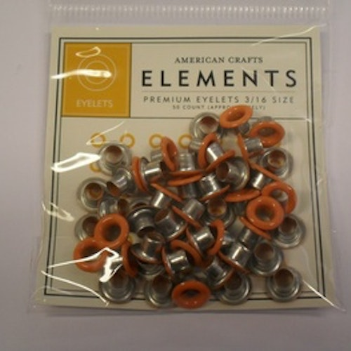 Eyelets AC, runda orange