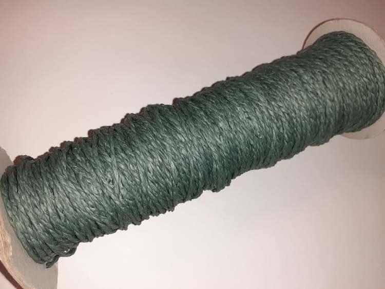 Papperssnöre, 1,8mm x 1 meter, Mörk grön