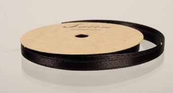 satinband, 10m 6mm, svart