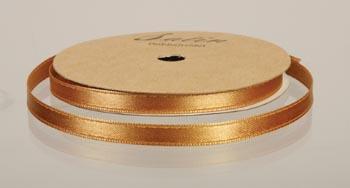 satinband, 10m 6mm, guld