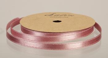 satinband, 10m 6mm, ljus gammelrosa