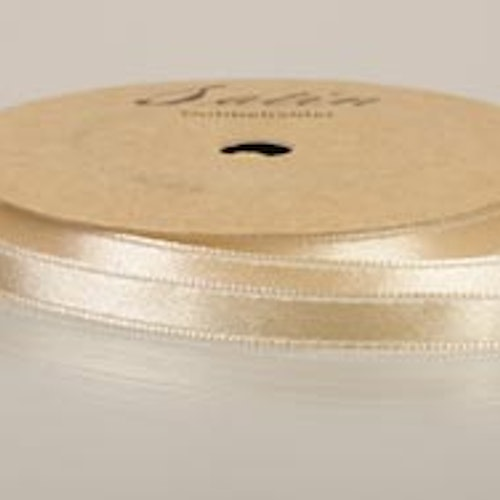 satinband, 10m 6mm, creme