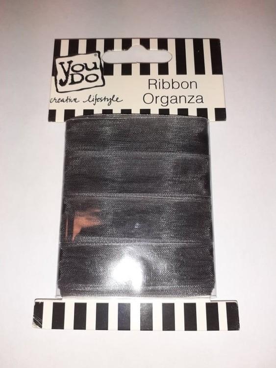 Ribbon organza YouDo, 16mmx10m Grey