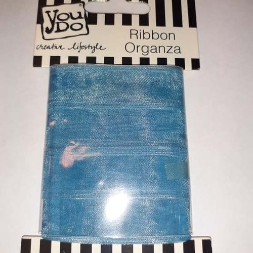 Ribbon organza YouDo, 16mmx10m Blue