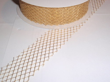 Gallerband, 4 cm, Guld