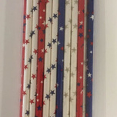 Dixi Craft Paper Straws 20 stk, stjärnor mixade färger