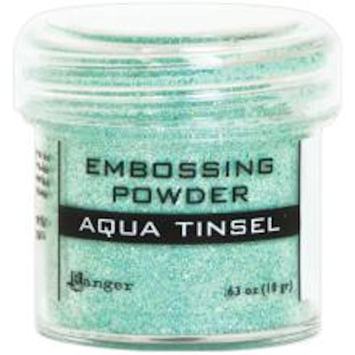 Embossing powder, Ranger - Aqua Tinsel