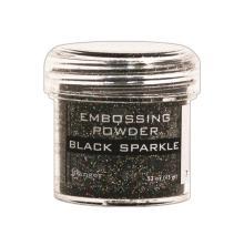 Embossing powder, Ranger - Black Sparkle Tinsel
