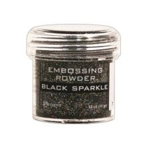 Embossing powder, Ranger - Black Sparkle Tinsel