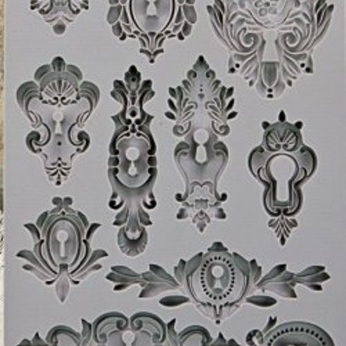 Prima Iron Orchid Re-Design Decor Mould 5X8 - Keyholes