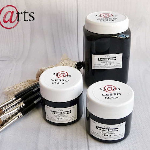 13arts Black Gesso - acrylic primer 120ml