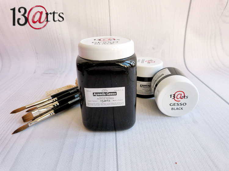 13arts Gesso black - acrylic primer 500 ml
