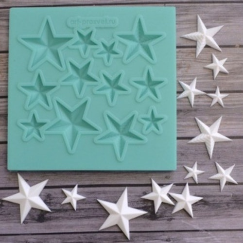 ProSvet Silikonform, Set Stars md0233